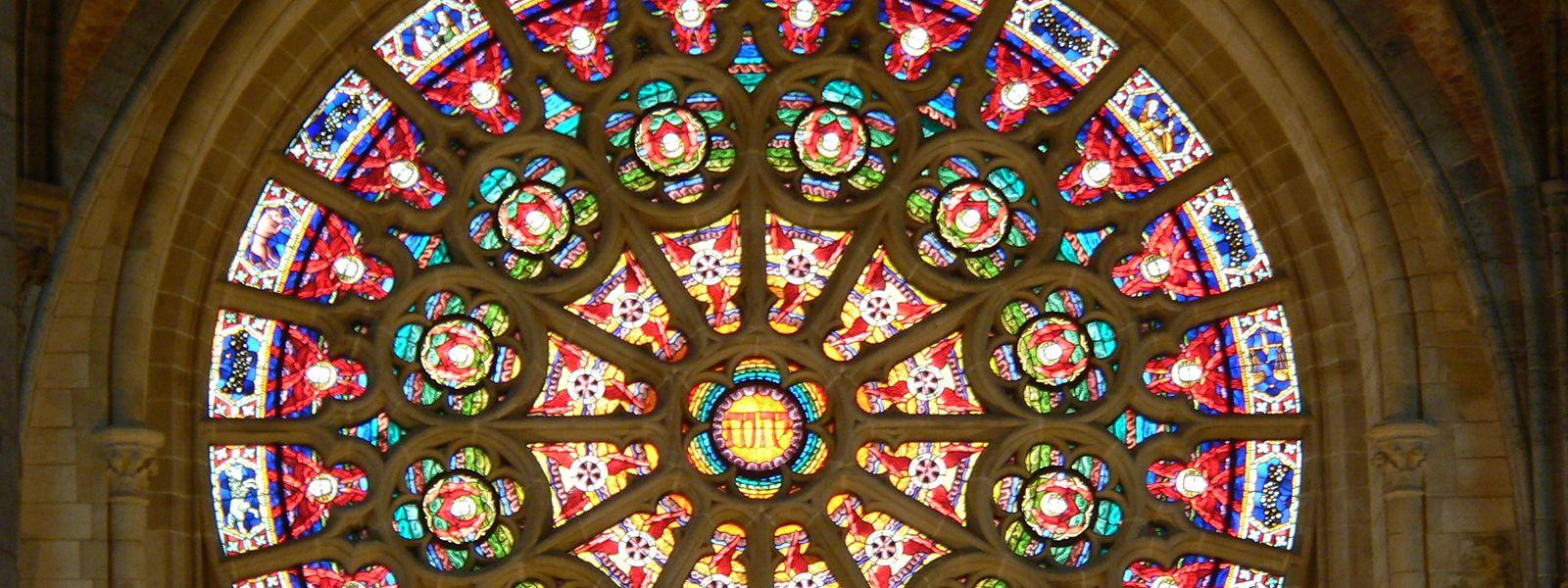 Rosette der Eglise St. Martin in Arlon
