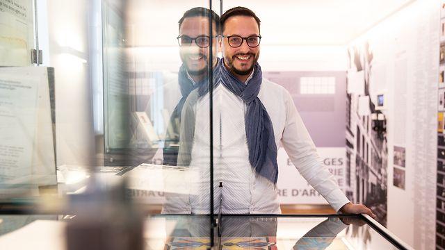 """ITV Claude Conter ,""""Auszeit"""",Direktor Literaturzentrum,Mersch. Foto:Gerry Huberty"""