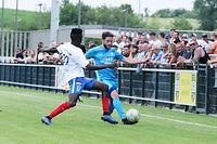 LFL Fussball Ligapokal zwischen dem F91 Dudelingen und der Etzella Ettelbruck in Bissen am 20.07.2019 Ryan KLAPP ( 23 F91) und Bruno CORREIA (17 Etzella)