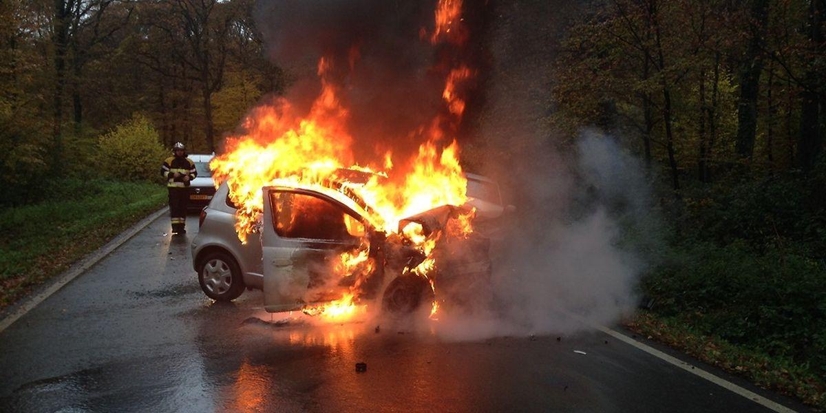 Bei dem Unfall zwischen Mamer und Dippach wurden drei Personen verletzt, eine davon schwer.