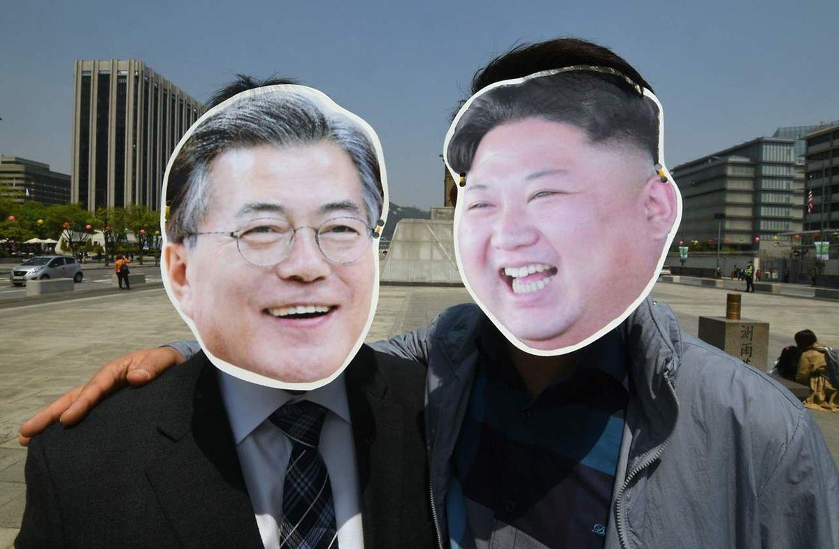 Ob sich Moon und Kim auch in Wirklichkeit gut verstehen, wird sich am Freitag in Panmunjom zeigen.