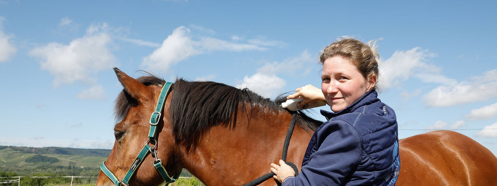 Fabienne Matagne und ihr Pferd Kjarkur waren über eine Woche lang durch die Grenze getrennt.