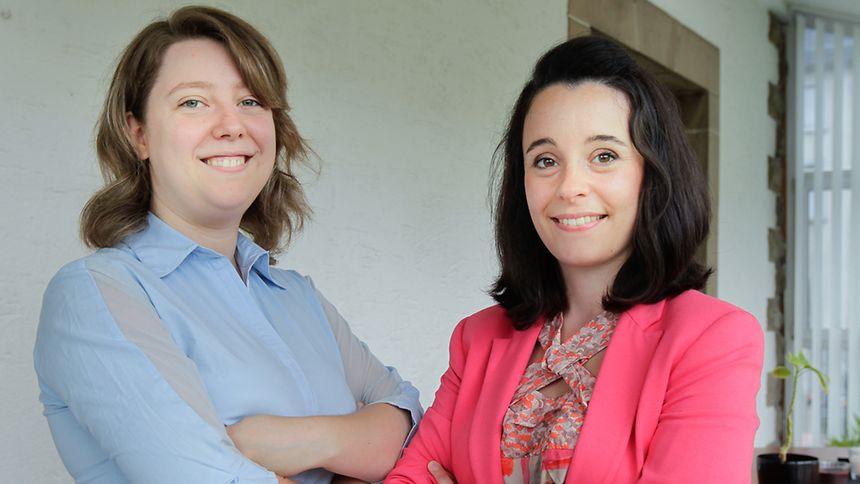 Matilde Fernandes (l.) and Valeria Cazzetta
