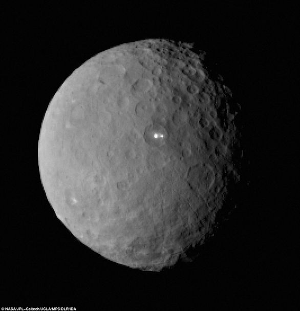This image was taken by the Dawn spacecraft of dwarf planet Ceres