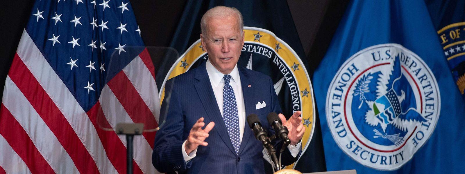 """""""Wenn wir in einem Krieg, einem echten Krieg mit einer Großmacht enden, dann als Folge eines Cyberangriffs von großer Tragweite"""", so US-Präsident Joe Biden."""