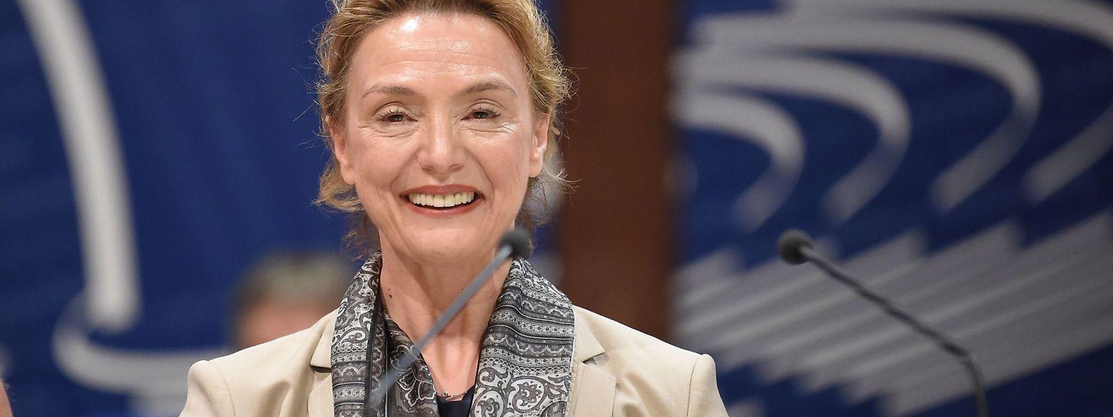 Die kroatische Außenministerin Marija Pejcinovic Buric freute sich über ihr neues Amt als Generalsekretärin des Europarats.