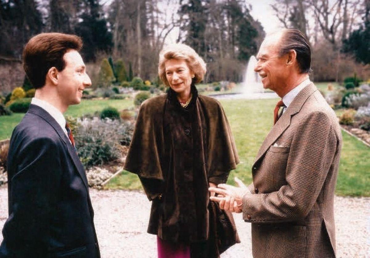 Stéphane Bern rencontre le Grand-Duc Jean et la Grande-Duchesse Joséphine-Charlotte en 1989.