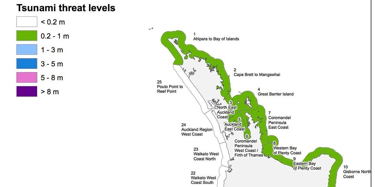 Für den Nordosten von Neuseeland gilt eine niedrige Tsunami-Warnstufe.