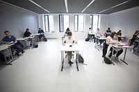 Lokales, Rentree für die Abschlussklassen, Schüler des  Lycée Hubert Clement, Foto: Guy Wolff/Luxemburger Wort