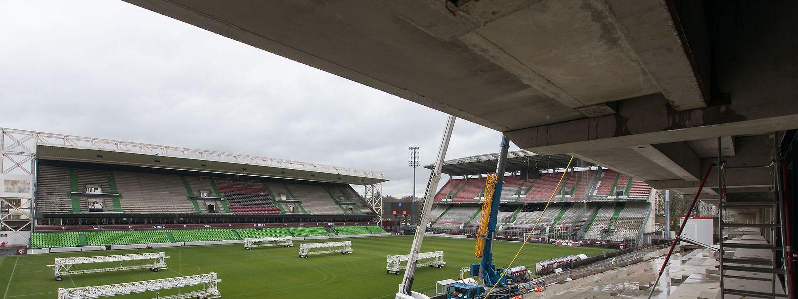 Le stade Saint-Symphorien devrait être opérationnel pour la reprise de la compétition.