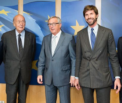 Valéry Giscard d'Estaing, Jean-Claude Juncker et Michelangela Baracchi Bonvicini