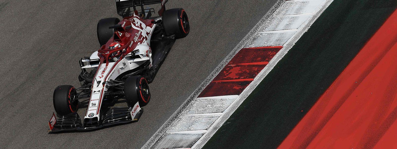 Mit dem Alfa Romeo kann Kimi Räikkönen nicht mehr vorne mitfahren.