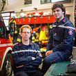 Sascha Weyrich (l.) und Diogo Costa vom Rettungszentrum Düdelingen waren am 14. Februar im Einsatz.