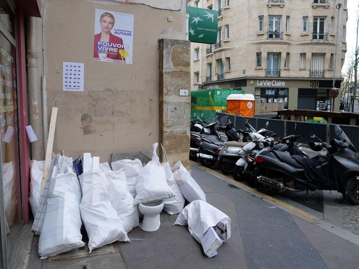 Die Pariser haben die Nase voll vom Müll.