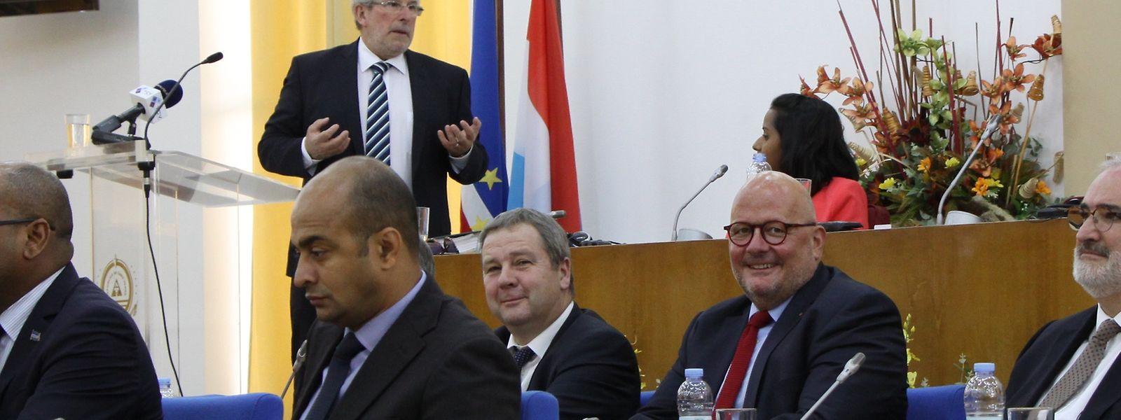Mars di Bartolomeo, durante o discurso na Assembleia Nacional de Cabo Verde.