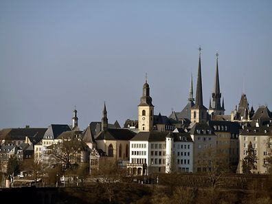 General view of the city of Luxembourg, Luxembourg, March 25, 2017.