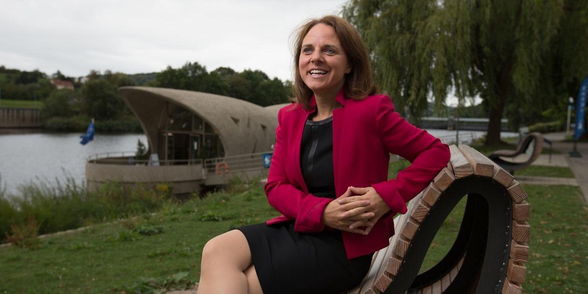 Corine Cahen, die Ministerin für die Großregion im Dreiländereck bei Schengen.