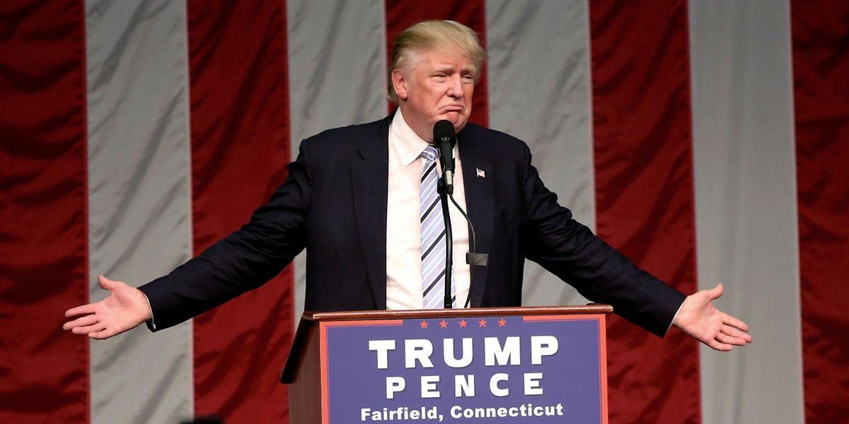 Am Samstagabend sprach Donald Trump in Fairfield (Connecticut)