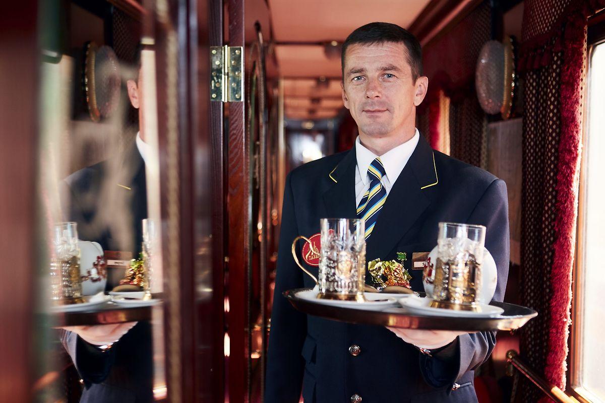 Service wie in einem normalen Hotel. Die Reisenden müssen an Bord des Zugs auf nichts verzichten.