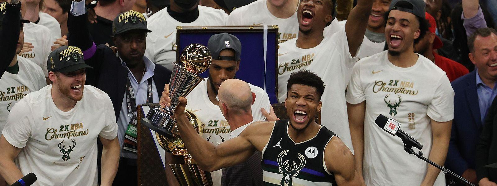 Giannis Antetokounmpo ist nicht nur Meister, sondern auch MVP der Finalserie.