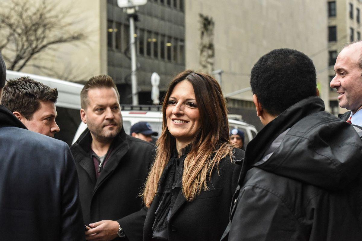 Harvey Weinsteins Chefanwältin Donna Rotunno nach der Sitzung am Donnerstag.