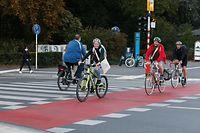 Lokales, Mobilität, Fahrrad, Aktion e Kaddo fir de Velo, Verkehrsverband, Kreisverkehr Robert Schuman  Foto: Anouk Antony/Luxemburger Wort
