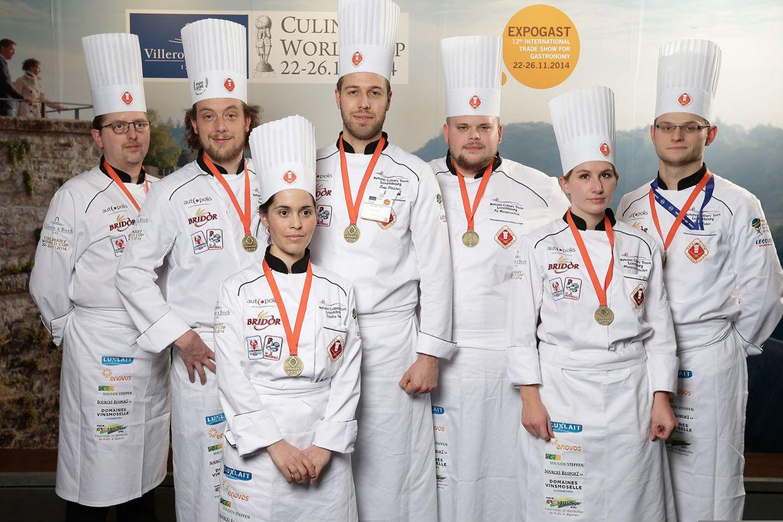 Die Luxemburger Nationalmannschaft erhielt Bronze bei der kalten Plattenschau.