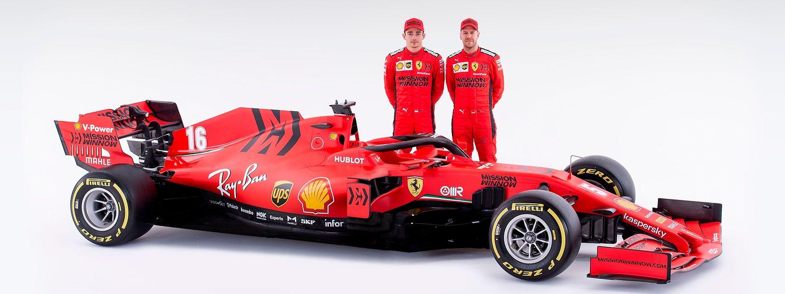 Charles Leclerc und Sebastian Vettel (r.) hoffen beide auf den Titel.