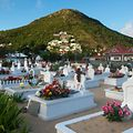 A picture taken on December 10, 2017 shows the cemetery of Lorient on the French Caribbean island of Saint-Barthelemy, where late French singer Johnny Hallyday should be buried on December 10. French music icon Johnny Hallyday died on December 6, aged 74, after a battle with lung cancer, plunging the country into mourning for a national treasure whose soft rock lit up the lives of three generations.   / AFP PHOTO / Helene Valenzuela