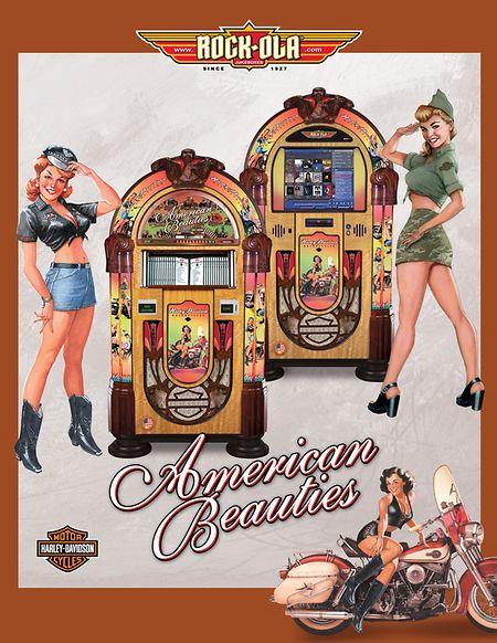 Jukeboxen in einer Werbebroschüre der Firma Rock-Ola.