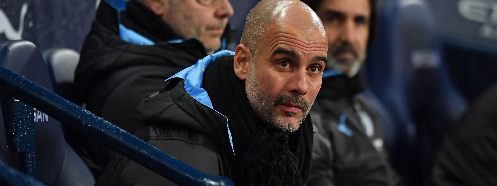 Pep Guardiola bekennt sich zu seinem derzeitigen Verein Manchester City.