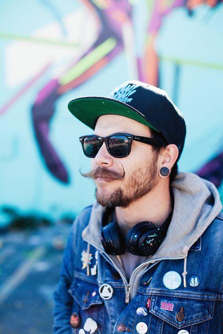 Street-Artist Arlin Graff trägt auch privat gerne Zehensandalen.