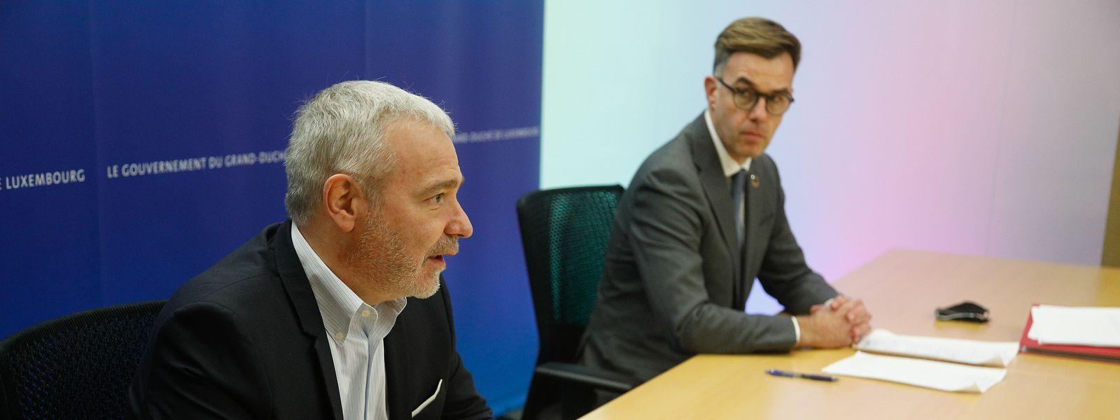 Dan Kersch (à gauche) fait-il cavalier seul ou les ministres de l'Economie (Franz Fayot ici à droite) et des Classes moyennes (Lex Delles) le suivent-ils?