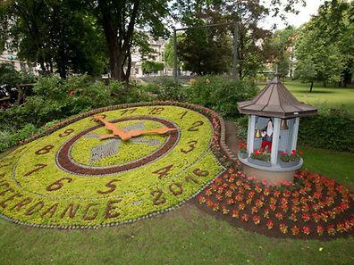 Blummenauer - horloge fleurie - Differdange -  28.06.2016 © claude piscitelli