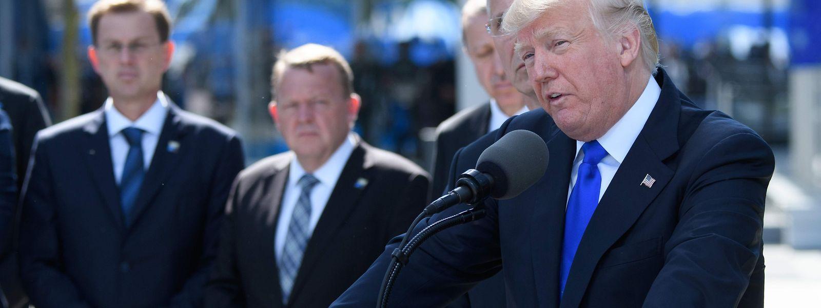 Donald Trump sorgte beim Nato-Gipfel in Brüssel für Aufregung.