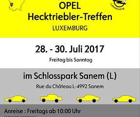 3. Internationales Opel Hecktriebler Treffen