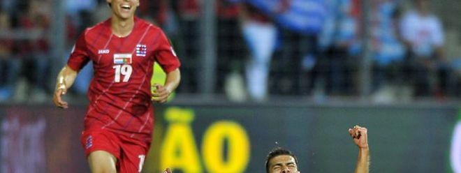 Ein Bild, das man so schnell nicht vergessen wird. Da Mota nach dem 1:0-Treffer.