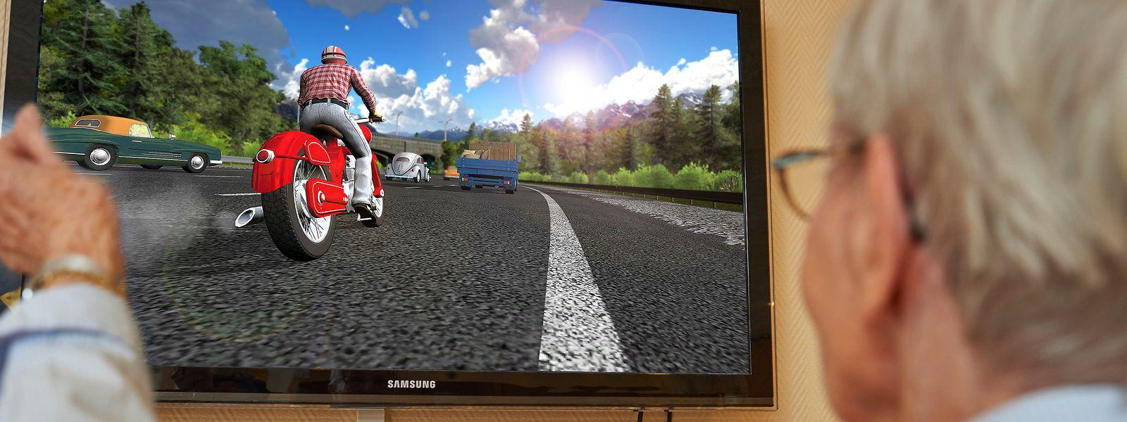Freihändig Motorrad fahren: Die MemoreBox wird ausschließlich mit dem Körper gesteuert.