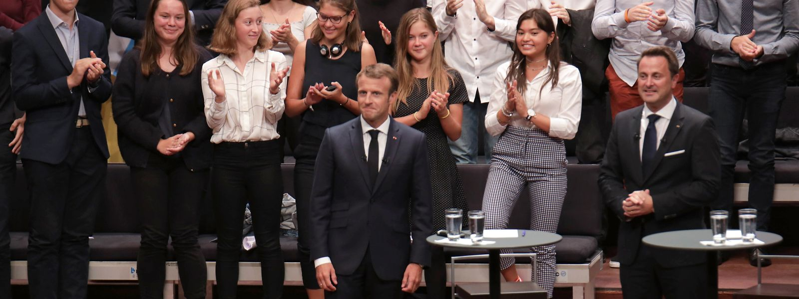 Xavier Bettel und Emmanuel Macron diskutieren am Donnerstag mit Gästen über Europa.