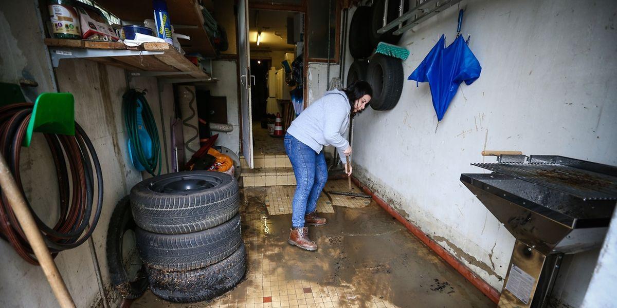 In Monorf waren einige Keller durch das Hochwasser überschwemmt worden.