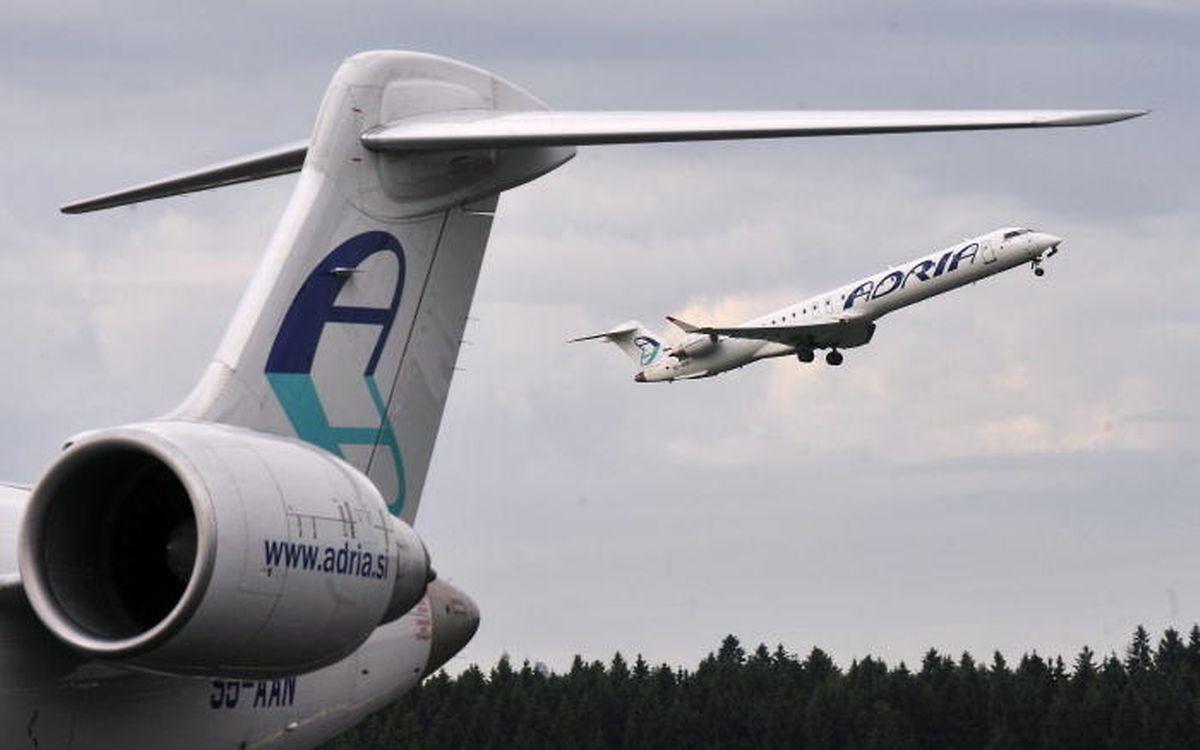 C'est un appareil de la compagnie Adria Airways qui effectue la liaison Luxembourg-Sarrebruck-Berlin