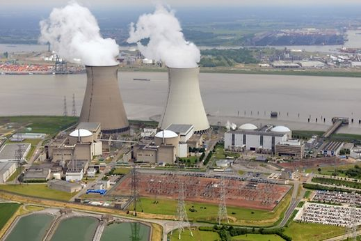 """Doel"" power plant Northwest of Antwerp, Belgium"