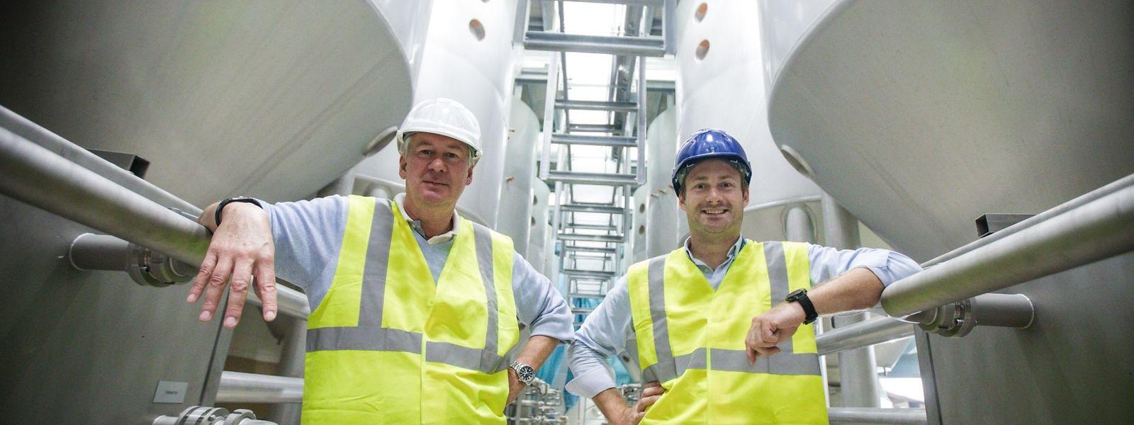 Der neue Diekircher Brauerei-Manager Pierre Van Vynckt (links) und der neue ABInBev-Landeschef Gilles Nackaerts (rechts) haben sich den 15. November 2018 rot im Kalender markiert.