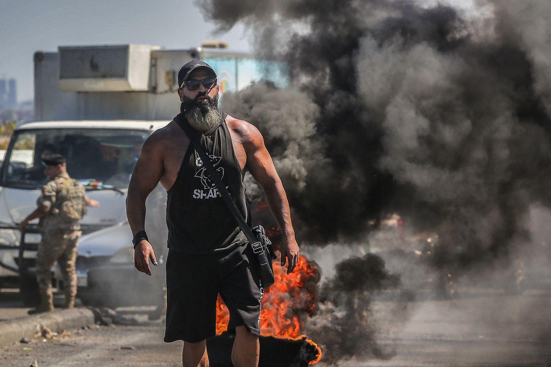 17.Juni: Mit einem landesweiten Generalstreik demonstrierten Arbeiter und Angestellte am Donnerstag im Libanon gegen die schwere Wirtschaftskrise und die Blockade bei der Regierungsbildung.