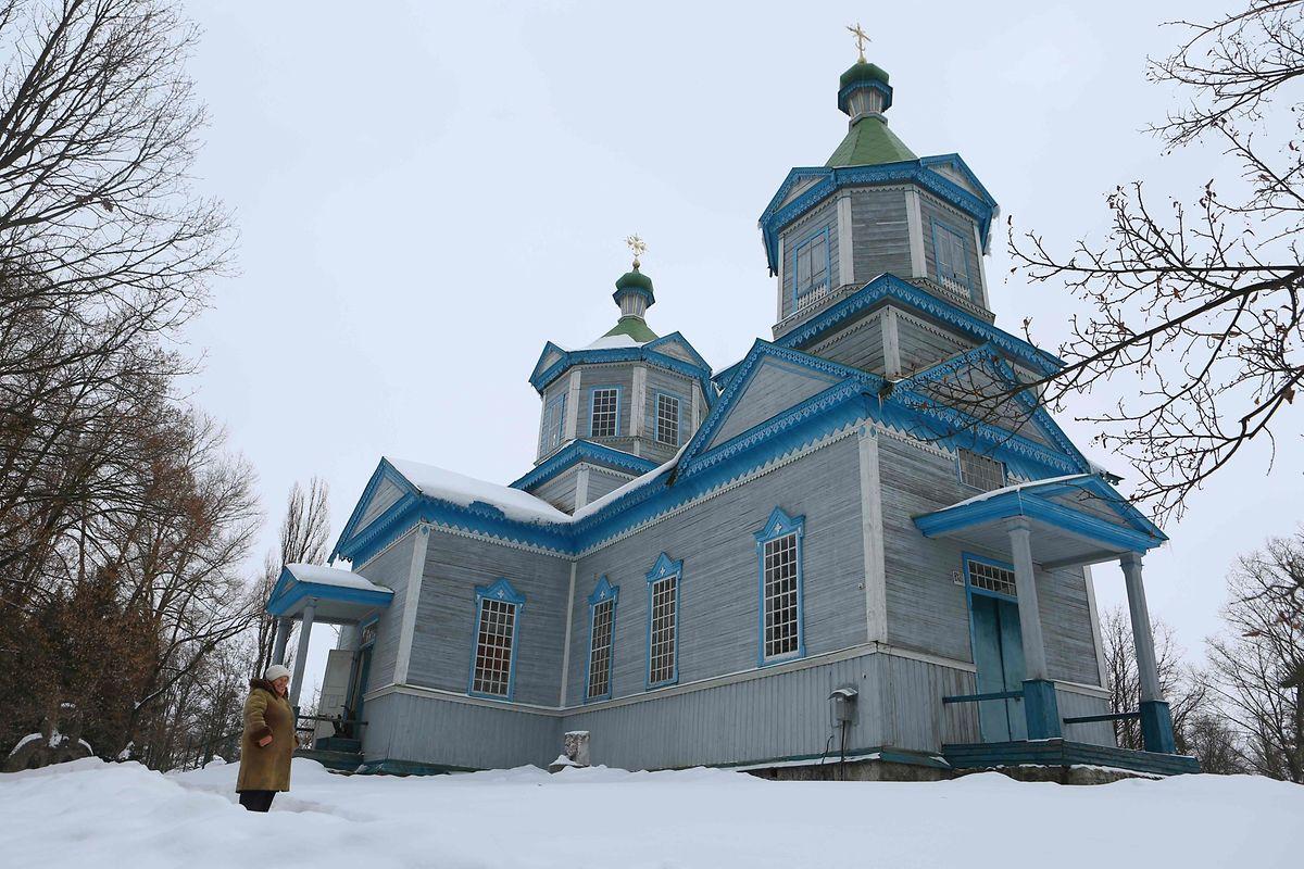 Borys Stoliarenko, un mécanicien de 60 ans, témoigne: «Tout ce qui me reste, c'est cette église. La création du musée l'a sauvée».