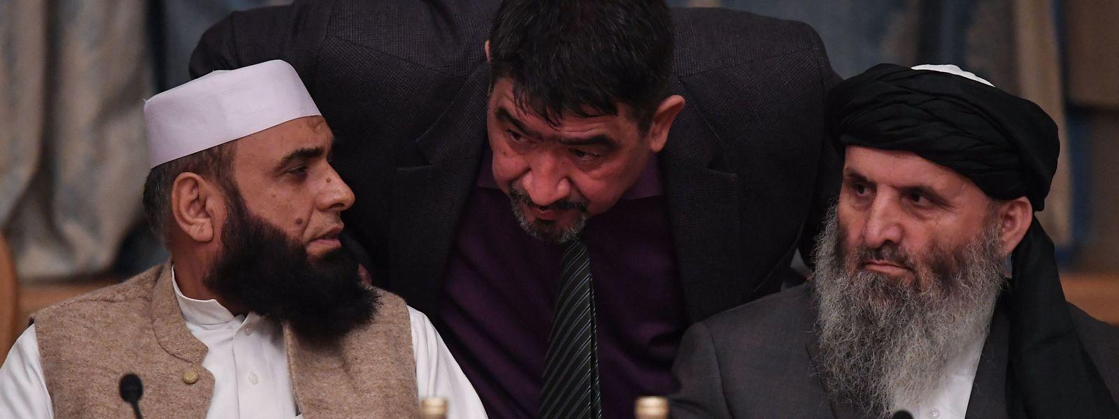 Vertreter der Taliban bei einem früheren Treffen.