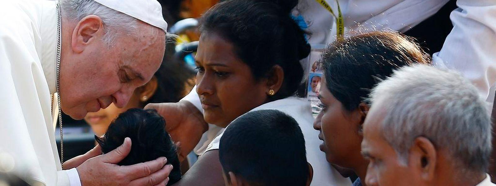 Das Kirchenoberhaupt suchte den intensiven Kontakt mit den Menschen.