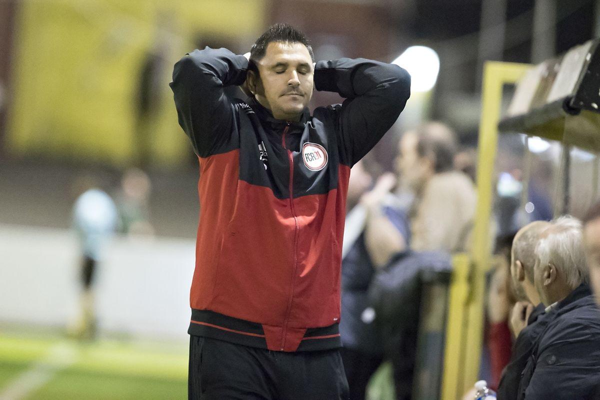 Séraphin Ribeiro peut se tenir la tête, son FCR91 n'a pas eu de réussite en première mi-temps.
