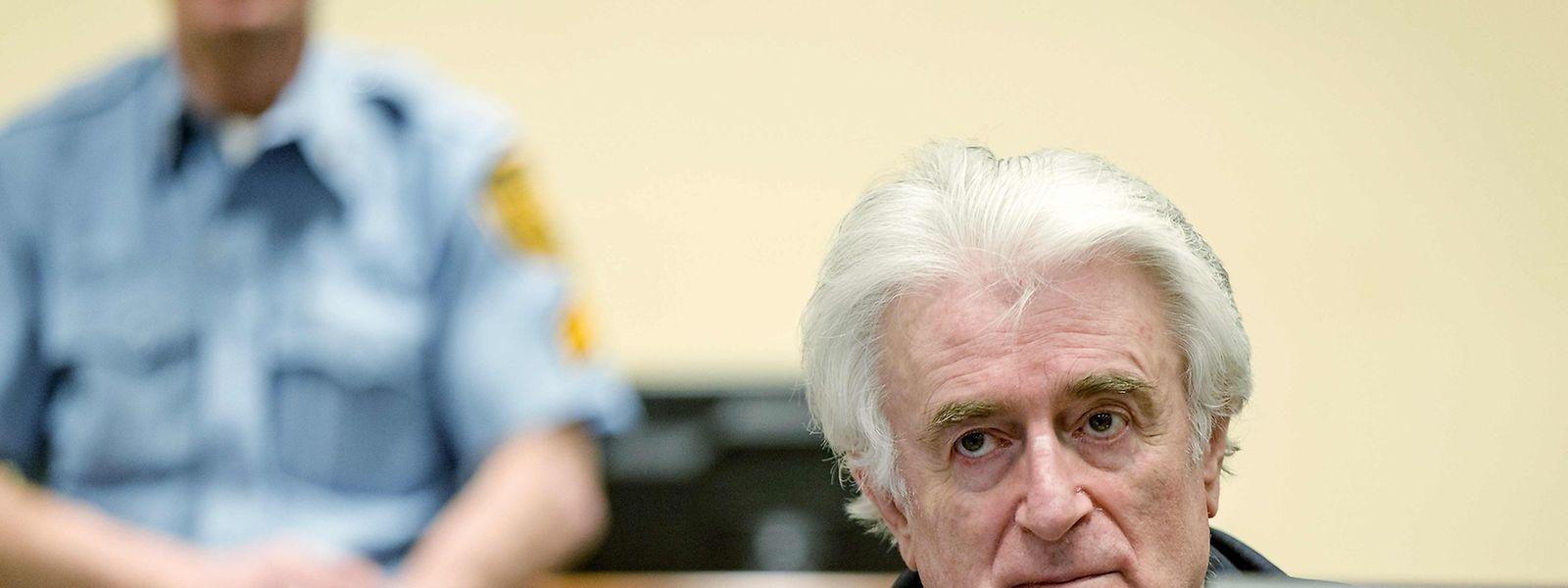 Karadzic während der Urteilsverkündung.