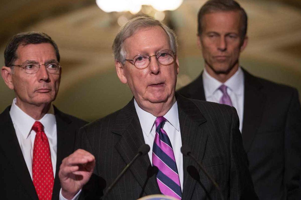 Mitch McConnell, Mehrheitsführer der Republikaner im US-Senat, zog die Kritik Trumps auf sich.